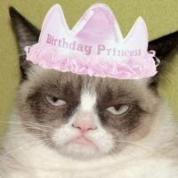 Happy Birthday, gatto sul fuoco